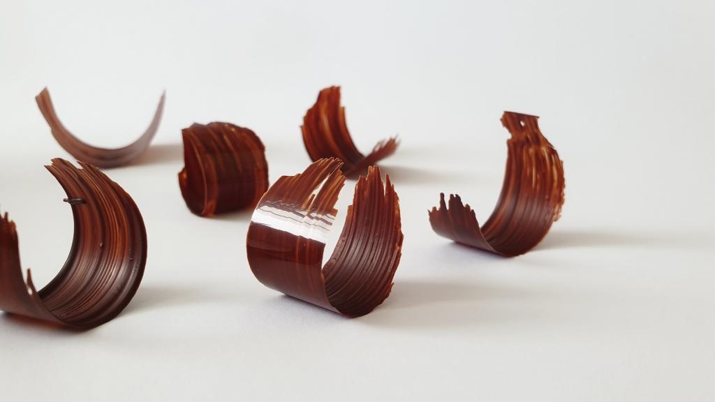 chocolade krullen decoratie
